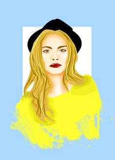 #Beautiful #depiction of #fashionmodel, #socialite, #actress and #singer #CaraDelevingne by #artist #TalithaKoum #MaoArt (To view her #art click the #link)   http://thegirlwithmessyhair.tumblr.com/tagged/maoart