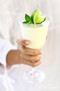 Coconut lime cheesecake in a glass. #cheesecake #food #desserts #summer
