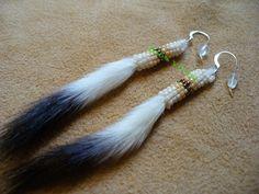 Ermin tail earrings