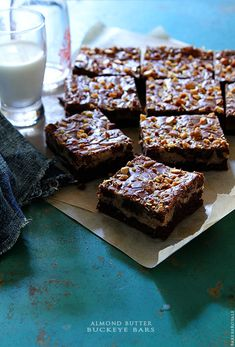 Almond Butter Buckeye Bars