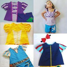 Playsets, cute. Princess Top Set #1- Merida - Snow White - Little Mermaid - Belle - Rapunzel