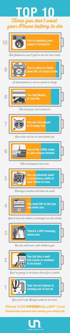 10 times you don't want your iPhone battery to die.
