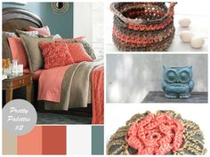 Found some great @Etsy finds to match this bedroom color pallet!!! Right click and open in a new window to view this hand crocheted basket (www.etsy.com/listing/182501956), pottery owl planter (www.etsy.com/listing/151810760), and crochet stone (www.etsy.com/listing/98540090)!