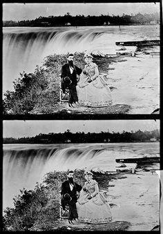 """""""Scene at Niagara Falls, N.Y"""" 1860-1865 Photo by Mathew Brady"""