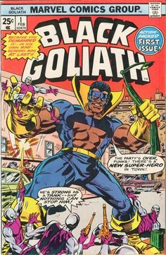 """...in this February 1976 issue of Black Goliath, Dr. Foster's transformation into a superhero potentially resonated with American anxieties about urban ""race riots,"" and with the problems of social mobility and the black middle class."""