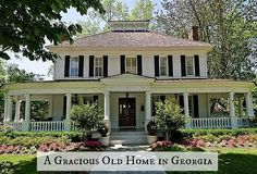 Pretty houses on pinterest victorian house wrap around for Southern style homes with wrap around porch for sale