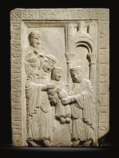 WORKSHOP OF PIETRO DI ALBERICO  ITALIAN, BOLOGNA, MID-12TH CENTURY  RELIEF WITH THE PRESENTATION IN THE TEMPLE