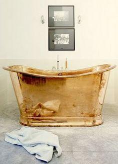 Golden bath.