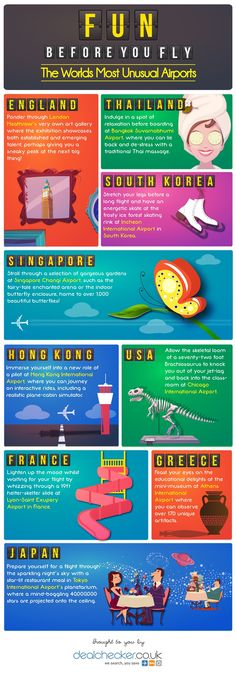 Infographic: Fun Before You Fly, Unusual Airports