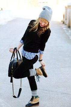 This outfit is perfect for fall.