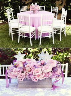 Enchanted Disney Princess Birthday Party {Pink & Purple} sofia the first, birthday parti, princess sofia, disney princesses, birthday idea, magic wands, party centerpieces, disney princess party, flower