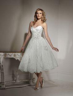 Love tea-length dresses.
