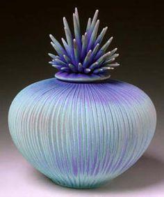 art glass, periwinkle blue