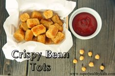 Beans have 8 times the nutrition of potatoes - try these tots packed with nutrition!  Super Healthy Kids #healthysnacking