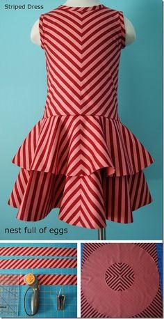 chevron summer dresses :: free sewing pattern - girls sz 4