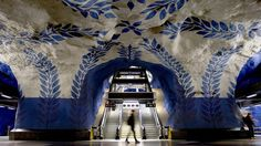 Metrô de Estocolmo.