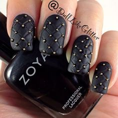 Quilted, studded nails!