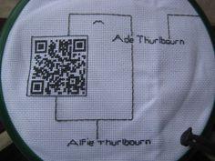 #www.qr-3d.weebly.com #qr #3d #code  #embroidery QR Code