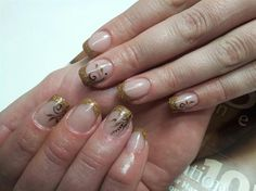 Gold glitter French