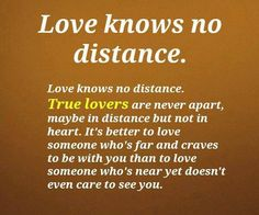 love knows no distance quotes pinterest