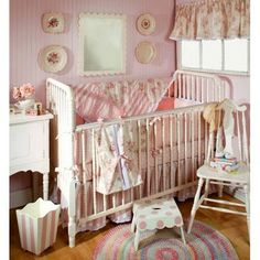 shabby chic -- baby girl nursery-- LOVE it