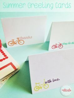 DIY Printable Summer Greeting Cards! These are so adorable! #summer
