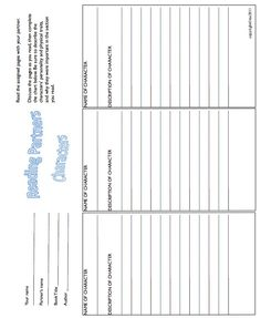 Read with a partner! Ready to print worksheets that include: characters, plot, setting, cause/effect, vocabulary, connections, conflict/resolution. Use with any novel. Great for centers. priced item