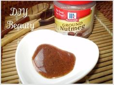 ERASE ACNE SCARS. 1/2 tsp of nutmeg, and a 1/4 tsp honey leave on 20-30 minutes