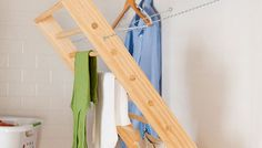 Make a fold-away drying rack with this tutorial.