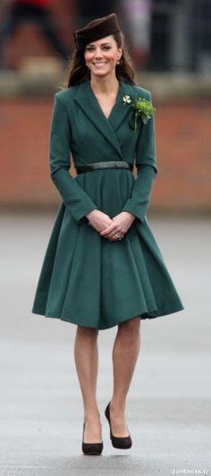 Kate Middleton. Parade Sain Patrick Londres. 17/3/2012