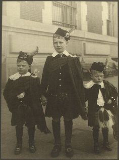 Ellis Island.  Scottish boys.