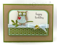 Stampin Up: Owl Builder Punch. Clean and simple.