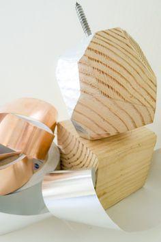 DIY Metallic Faceted Wood Doorknob | Design Milk