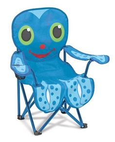 How cute is this. Melissa and Doug Sunny Patch Flex Octopus Chair with a cup holder for the beach. From Melissa & Doug   #beach