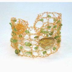 Delicate Romantic Hand Crochet Lace Bracelet by BlueRoomBijoux, $126.00