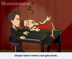 If classical music composers used Bitstrips - Chopin and Liszt