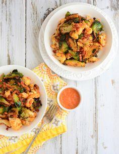 SCD Brussels Sprouts & Cauliflower Stir-Fry (*Use SCD legal pancetta / onion powder...)