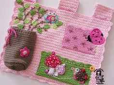 hook, crochet ideas, crochet bags, diapers, girl bedrooms, baby girls, wall pockets, crochet purses, crochet patterns