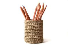 Crochet pencil holder