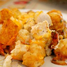 Crockpot Chicken Bacon Ranch Tater Tot Casserole