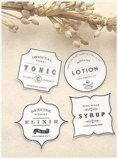vintage label templates...