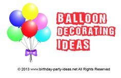 Balloon decorating ideas #party #birthday #decoration #cakes #favors #themedbirthday #games #printable #quotes #invitation #sayings #birthdaypartyideas #bpartyideas  #balloon #decorating