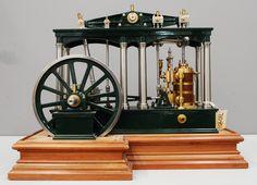 Working steam engine model (1940) of a Watt type Beam Engine (1850 design)