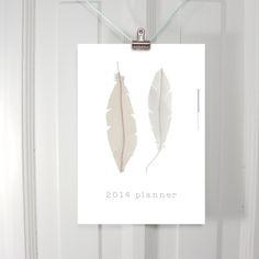 2014 calendar feather planner