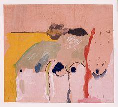 lights, 1998, block prints, abstract art, inspir, paint, papers, helen frankenthaler, genji