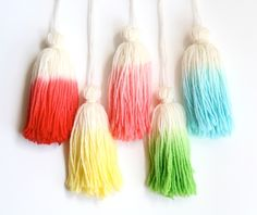 A DIY dip-dyed project made with ... wait for it ... Kool-Aid!