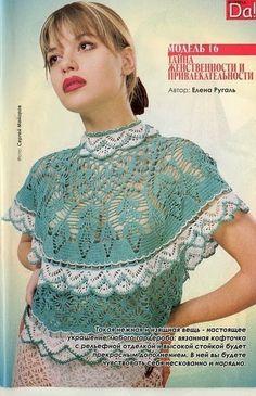 TRICO y CROCHET-madona-mía: Blusas a crochet (ganchillo) con patrones, crochet inspir, ropa crochet, knit crochet, crochet blusa, lace top, crochet blous, knitwear crochet, crochet tops, crochet cloth