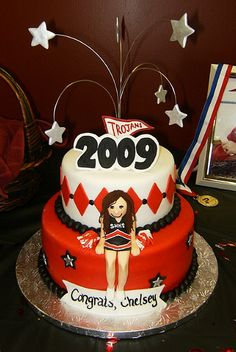 cheerleader graduation cake by tishperez, via Flickr 4