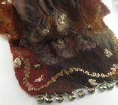 nuno scarf, featur hand, nuno felt, dy silk, scarves, nunofelt, scarf tutori, felt scarf, fiber art