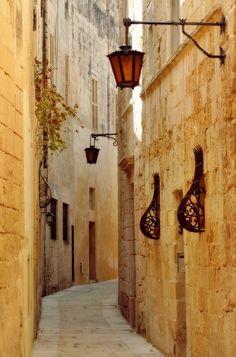 narrow street, mdina malta, visit, beauti, travel, silent citi, place, alley, malta photo